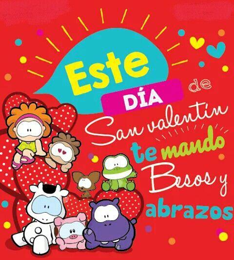 Feliz Día De San Valentín Un Abrazote Con Mucho Cariño