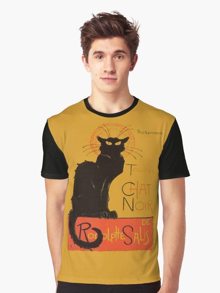 Tournee Du Chat Noir After Steinlein Graphic T Shirt By Taiche Tournee Du Chat Noir Chat Noir Vintage Posters