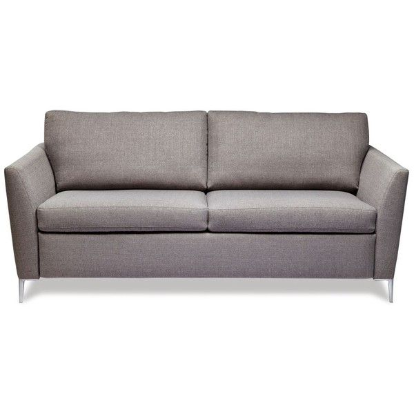 American Leather Noah Queen Sleeper Sofa 3 299 Liked On Polyvore Featuring Home Furniture Sofas Vintage Belgian Grey American Leather C Leather Sofa Bed