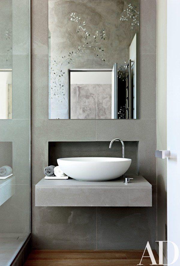 Go Glam With A Gray Bathroom Modern Bathroom Sink Contemporary Bathroom Designs Contemporary Bathroom Decor