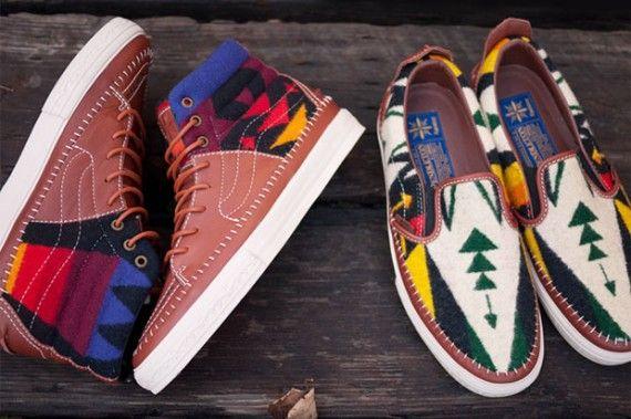 68db31a082 Pendleton x Taka Hayashi x Vans Vault Sk8-Hi + Slip-On - SneakerNews.com