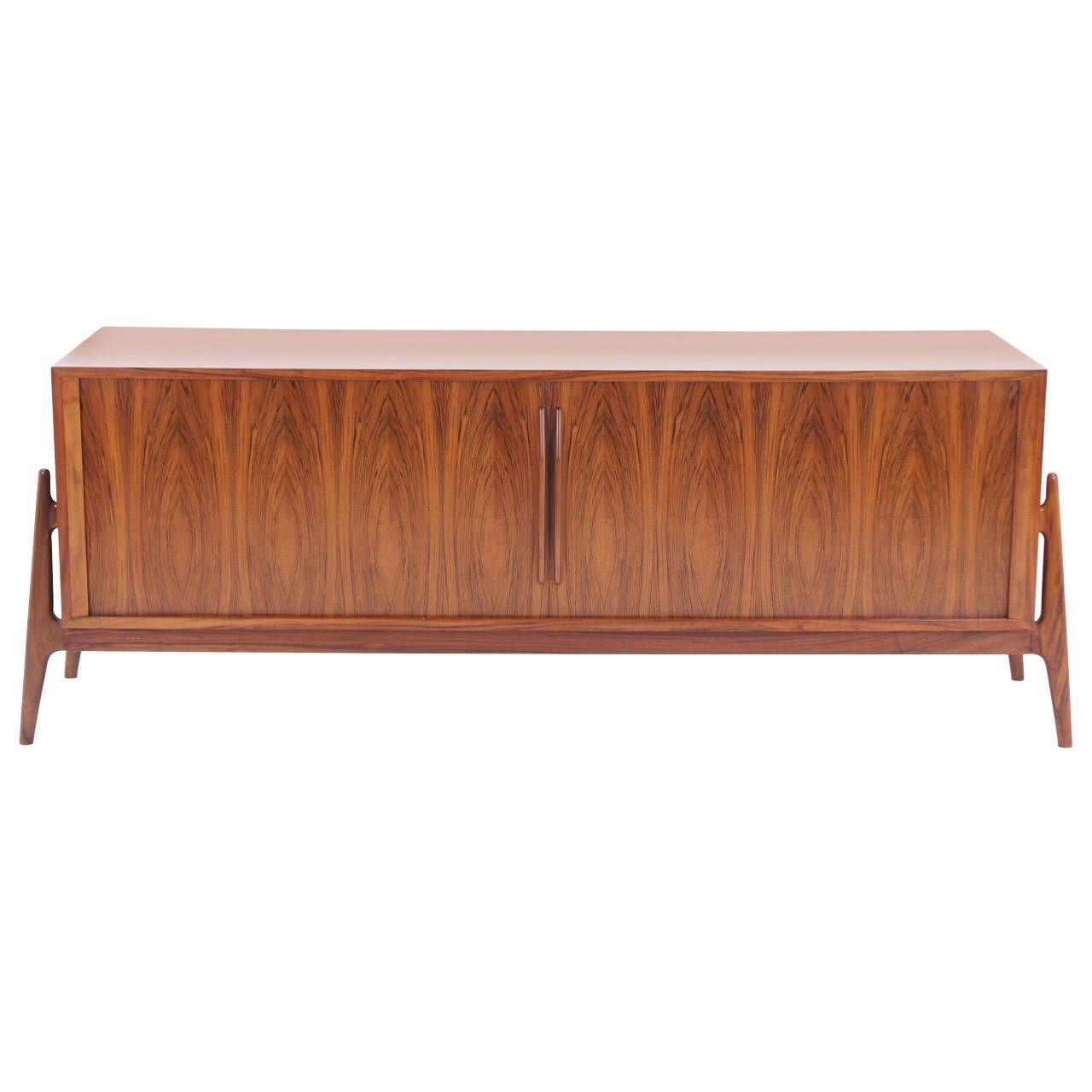 Massive Finn Juhl Attribution Rosewood Credenza | See more antique and modern Credenzas at http://www.1stdibs.com/furniture/storage-case-pieces/credenzas