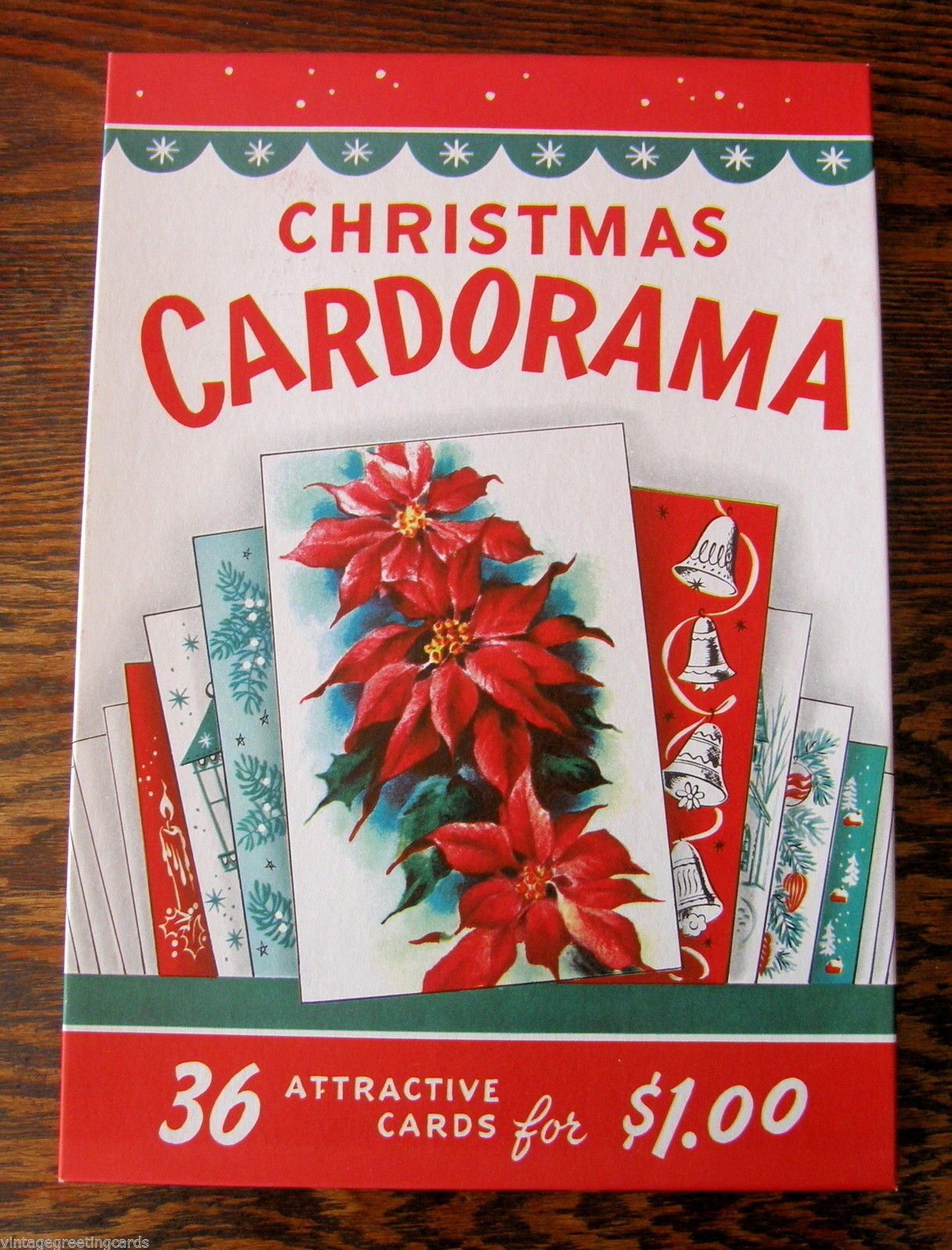 """Cardorama"" Vintage 1950s BOX With 36 Christmas Cards Mint"