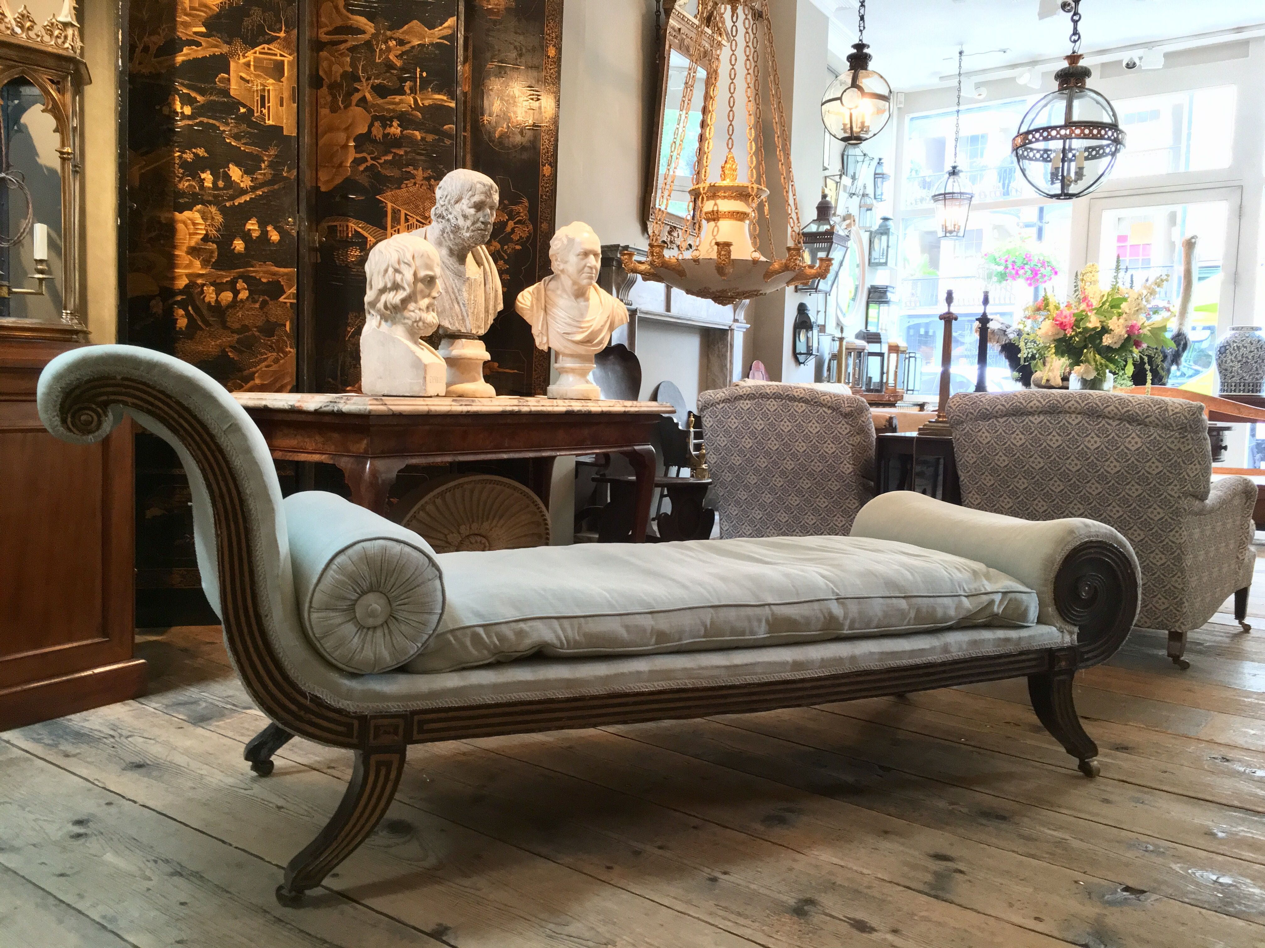 A Regency Day Bed Joins Our Collection Of Antiques In Our