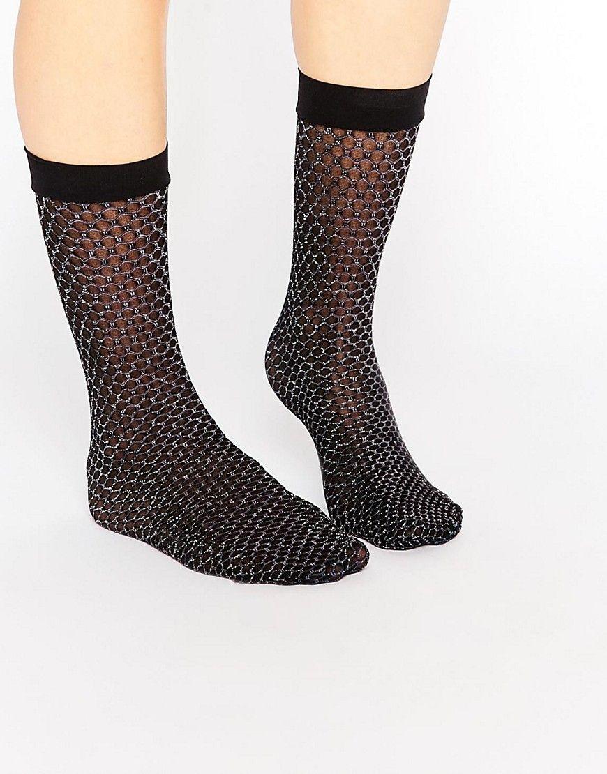 Mega seje ASOS Mermaid Glitter Ankle Socks - Multi ASOS Sokker til Damer i dejlige materialer