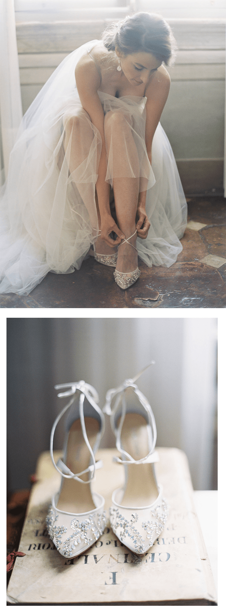 ce86b03973b Florence - Crystal Embellished Ivory Wedding Shoe in 2019 | Pearls ...