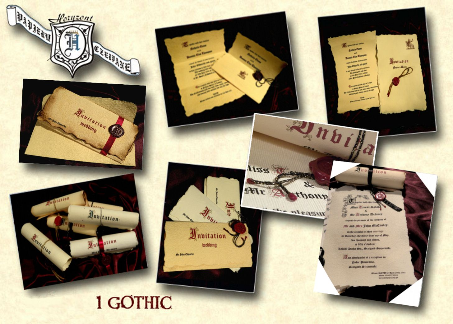 Our gothic styled invitations To learn more visit http://www ...