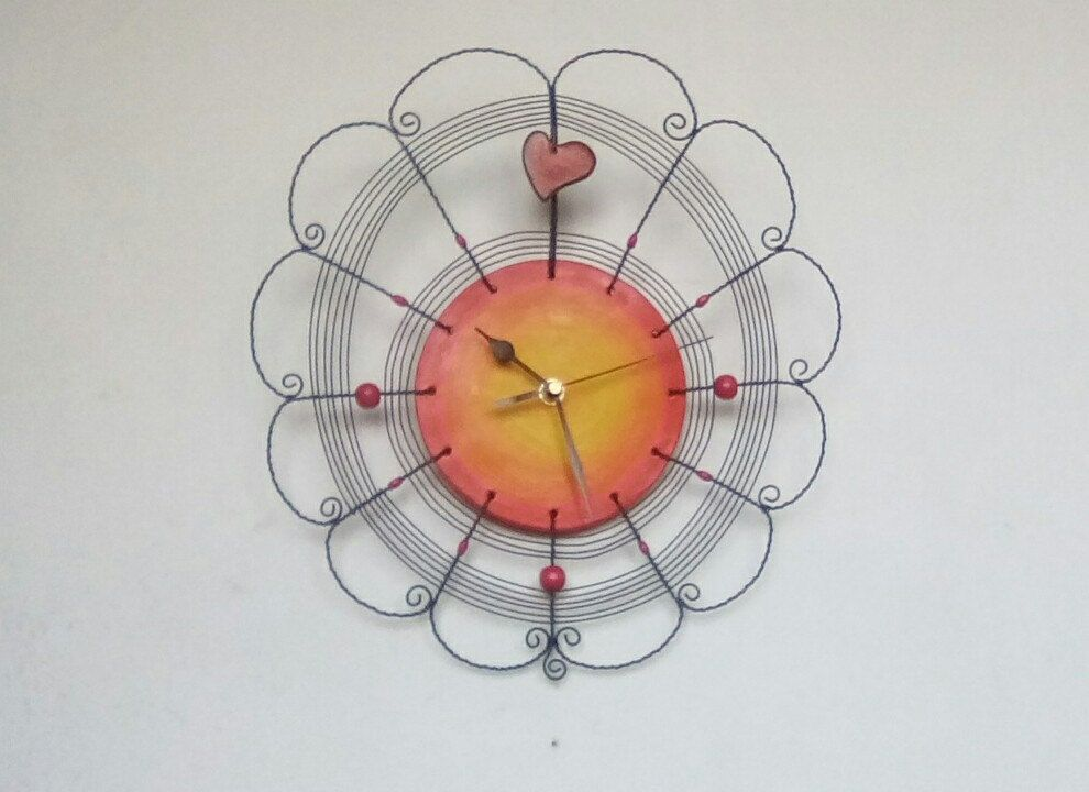 Clock with heart ... by HaCu on Etsy