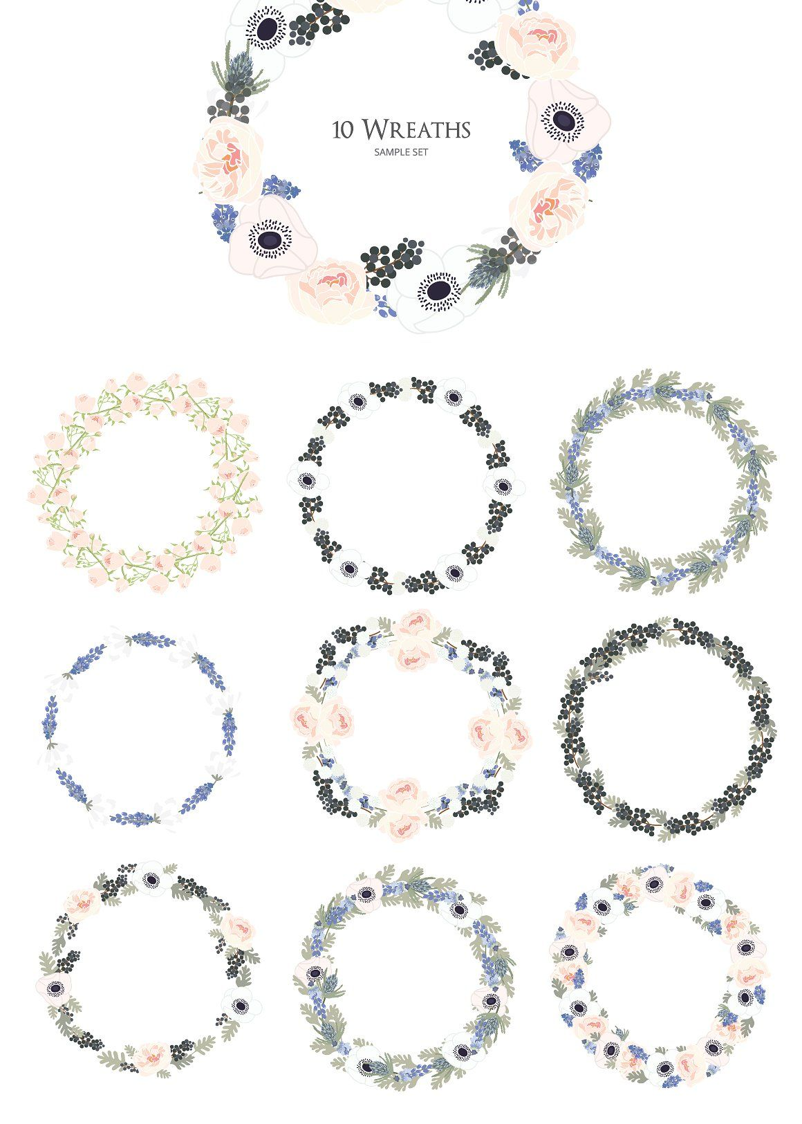 WINTER FLOWER HAND DRAWN VECTOR by beerjunk on