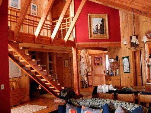 Interior casa Lago Caburga. Proyectos Chile.