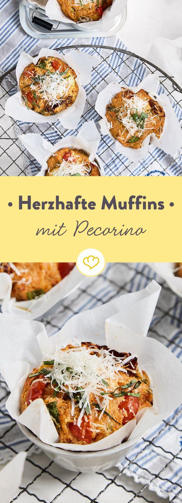 Herzhafte Muffins mit Pecorino | Rezept | Kochen ...