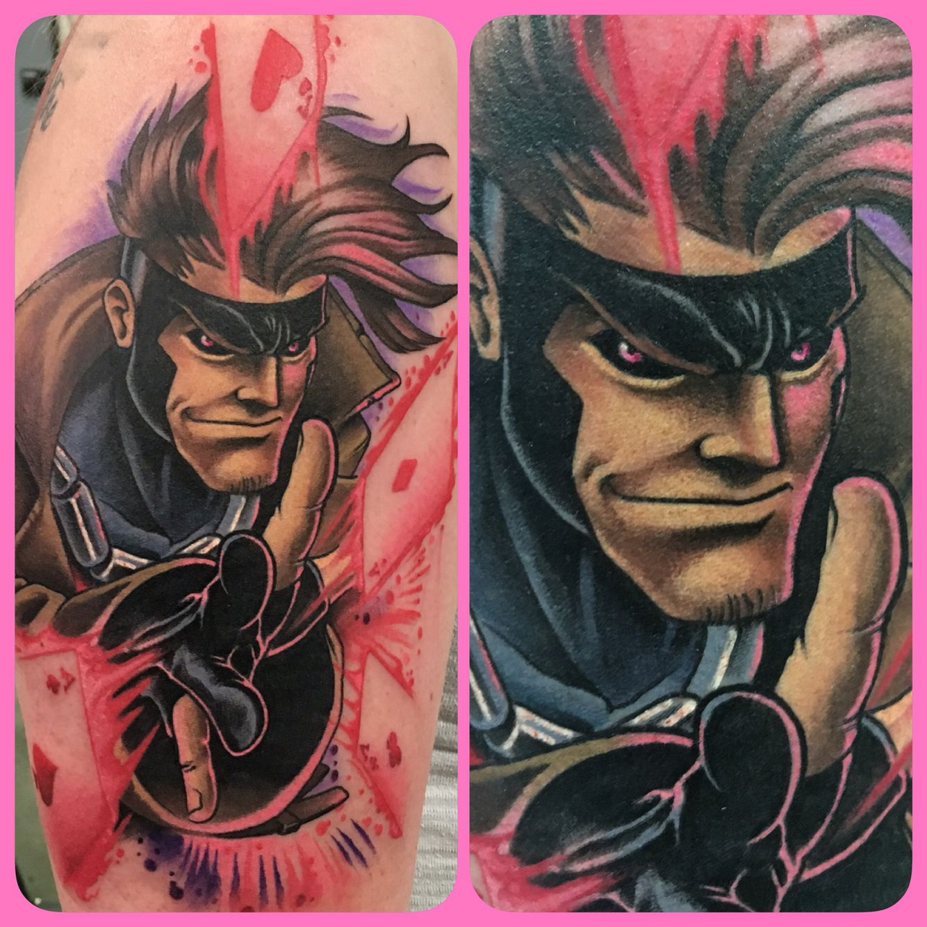 """Tattoo by Walter """"Sausage"""" Frank Revolt Tattoos Marvel"""