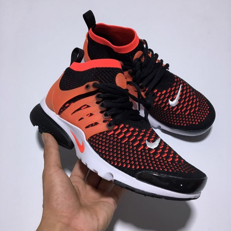 the latest 52f49 686c4 Black Hot Punch Sport Red Nike Air Presto Flyknit Ultra