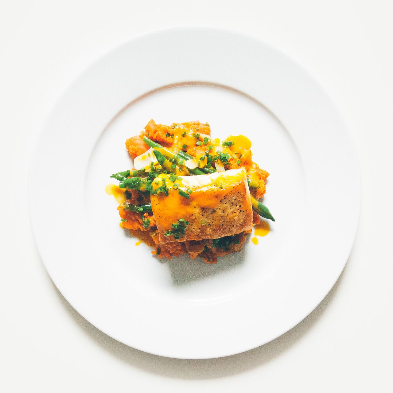 French Cuisse - Roast Halibut With Carrot Butter