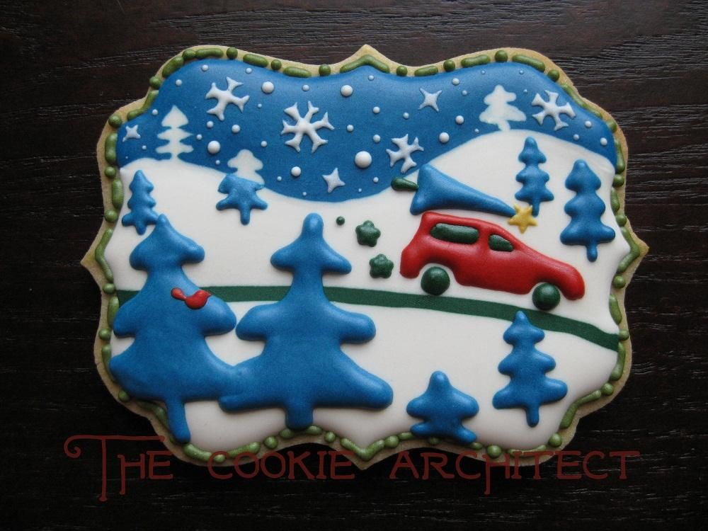 Christmas Tree   The Cookie Architect   Cookie Connection RebeccArchitect