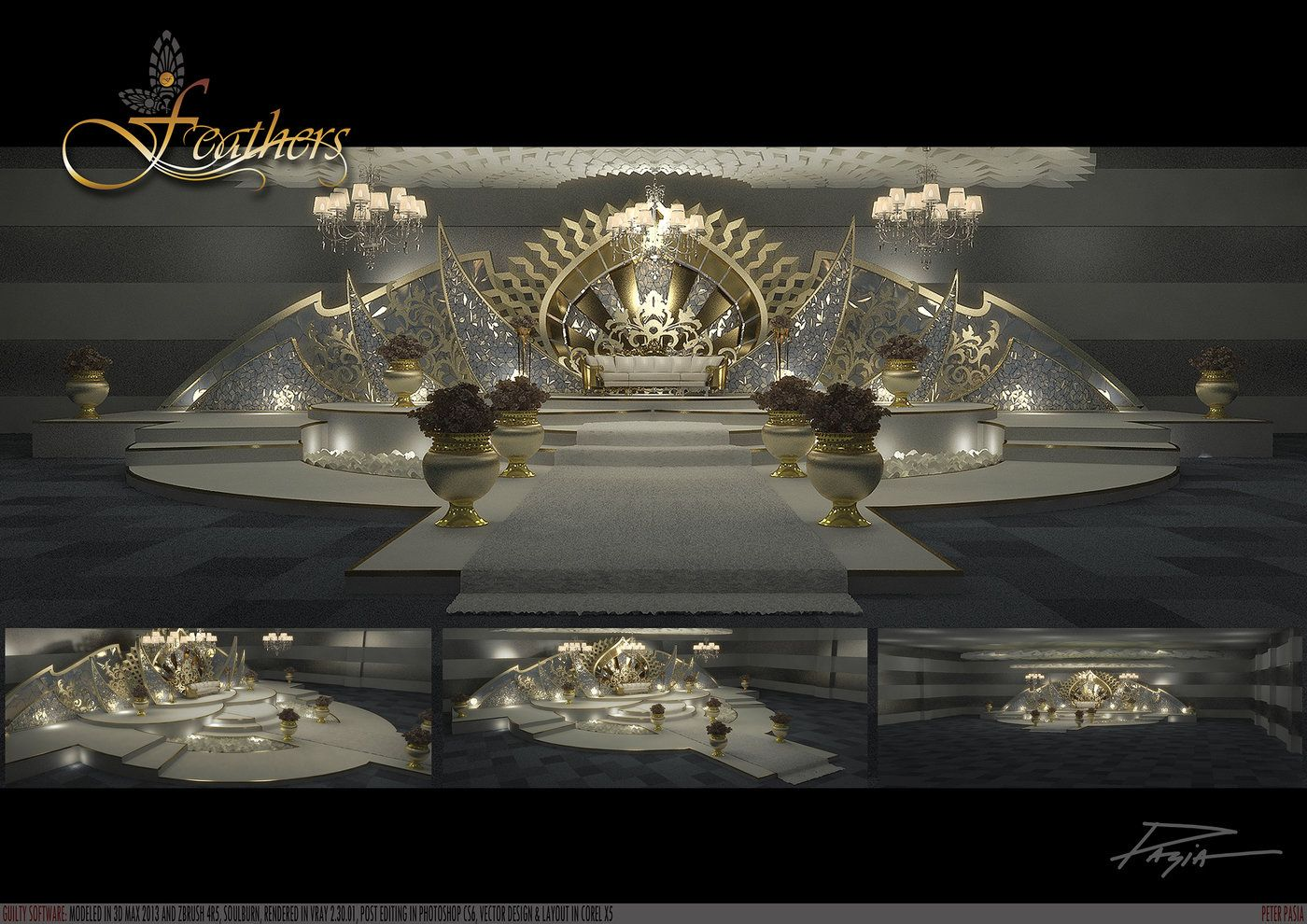 Wedding decorations stage backdrops october 2018 STAGE DESIGN by Peter Pasia at Coroflot  عمل in