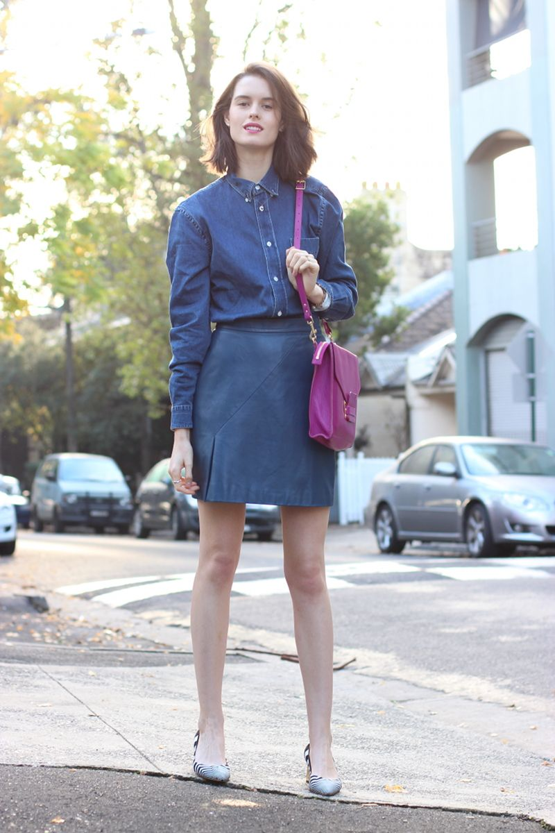 Teal Leather Skirt - Dress Ala