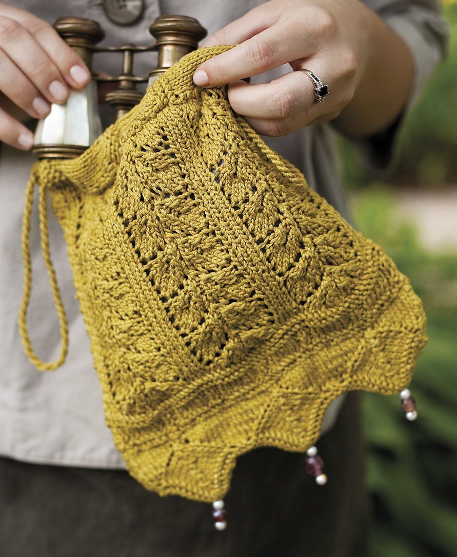 Knitting Pattern for Netherfield Evening Bag - Inspired by the ball ...