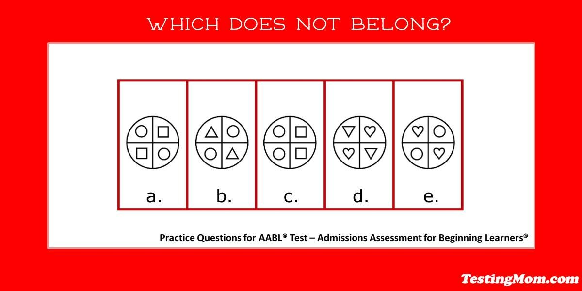 Can your child determine which doesn't belong? #AABL #practice ...