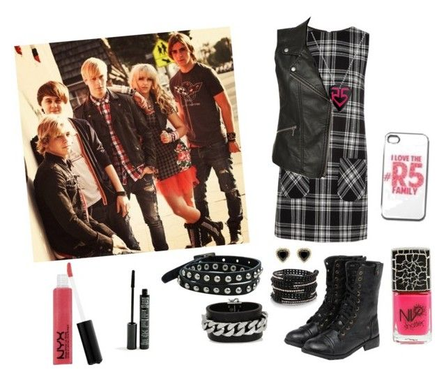 """""""R5"""" by charn-852 ❤ liked on Polyvore featuring Karl Lagerfeld, Sanctuary, yeswalker, Angie, Fendi, Chan Luu, JouJou, TheBalm, NYX and Boohoo"""