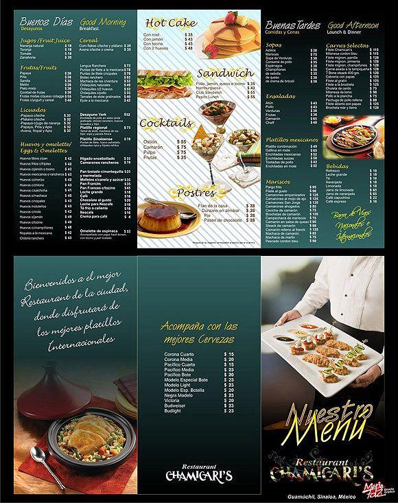 ideas diseño cartas menus restaurantes ejemplos minutas