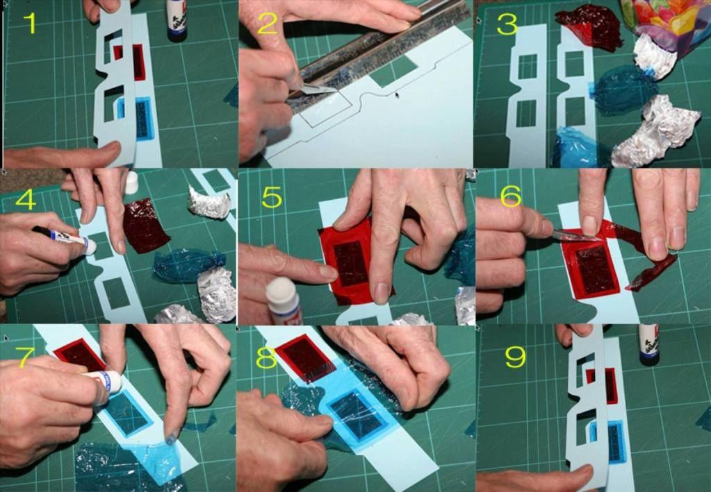 Cara membuat kacamata 3D RedCyan sendiri (Dengan gambar