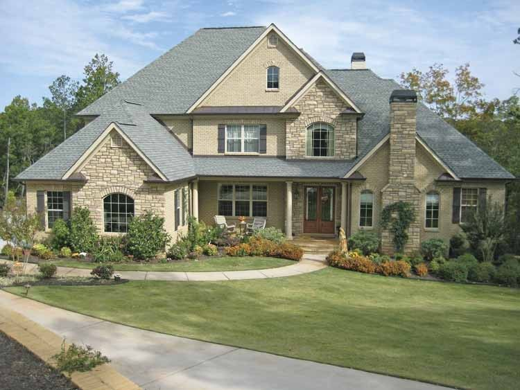 New american house plan with 4138 square feet and 4 for American home designs plans