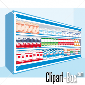 CLIPART MILK AND CREAM SHELVES
