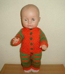 Dukketøj Baby Born strikket sæt