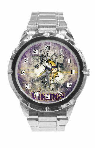 Details about Watch Men NFL Minnesota Vikings Fossil