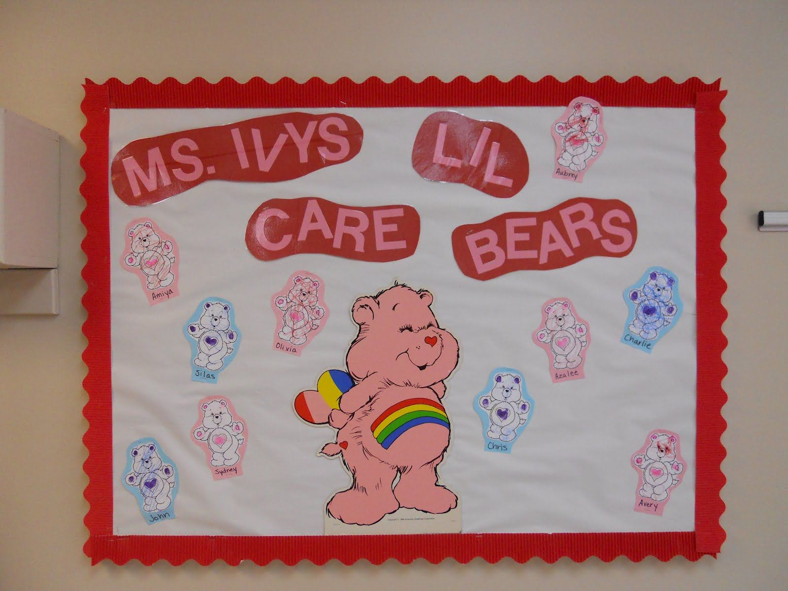 Toddler Classroom Valentine Ideas : Care bear classroom theme valentine s day bulletin board