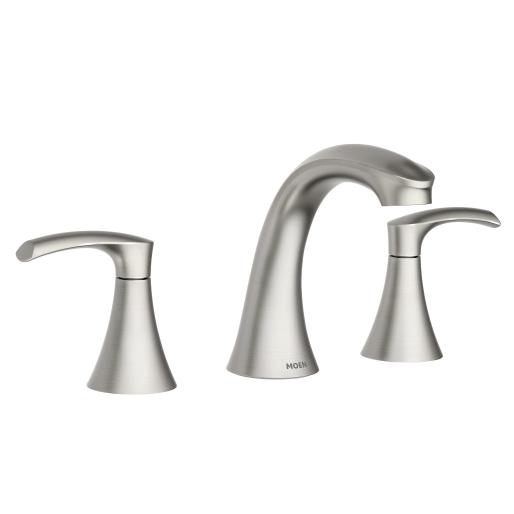 Graeden Spot Resist Brushed Nickel Two Handle High Arc Bathroom