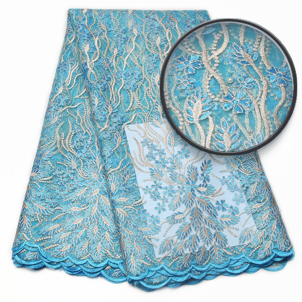 Wholesale african material french lace high fashion designer fabric ...