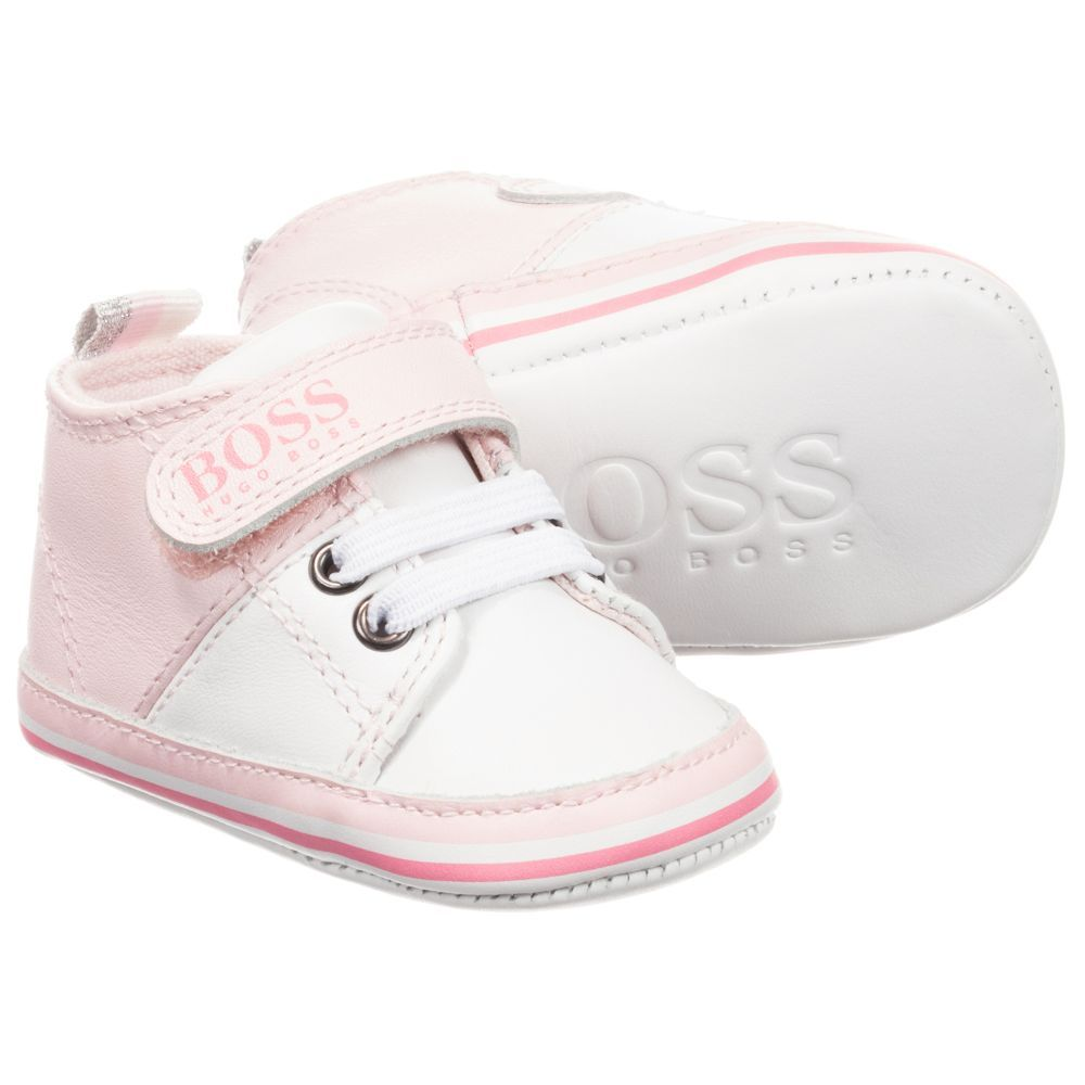 BOSS - Girls Leather Pre-Walker Shoes