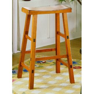 Woodbridge Home Designs 5302 Series Stool In Oak Bar Stools Oak Finish Homelegance