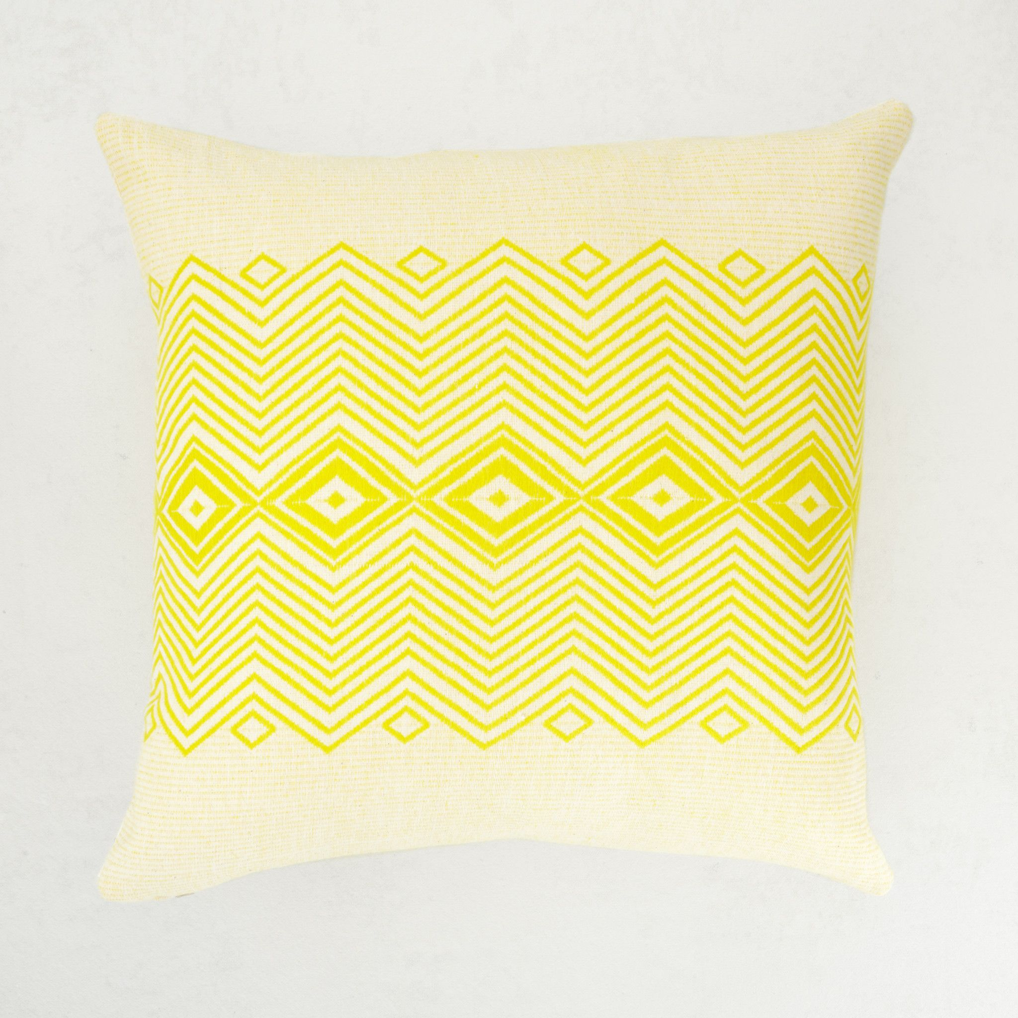 African Orchid Pillow From Bole Road Textiles Yellow And Natural Cotton Handwoven In Ethiopia With Images Pillows African Furniture Yellow Pillows