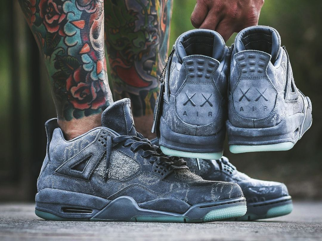 ba29c7fc51e KAWS x Nike Air Jordan 4 - 2017 (by bigdealphil_) – Sweetsoles – Sneakers,  kicks and trainers. On feet.