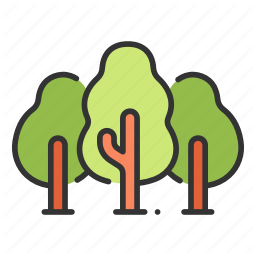 Forest Natural Nature Park Tree Wood Icon Download On Iconfinder