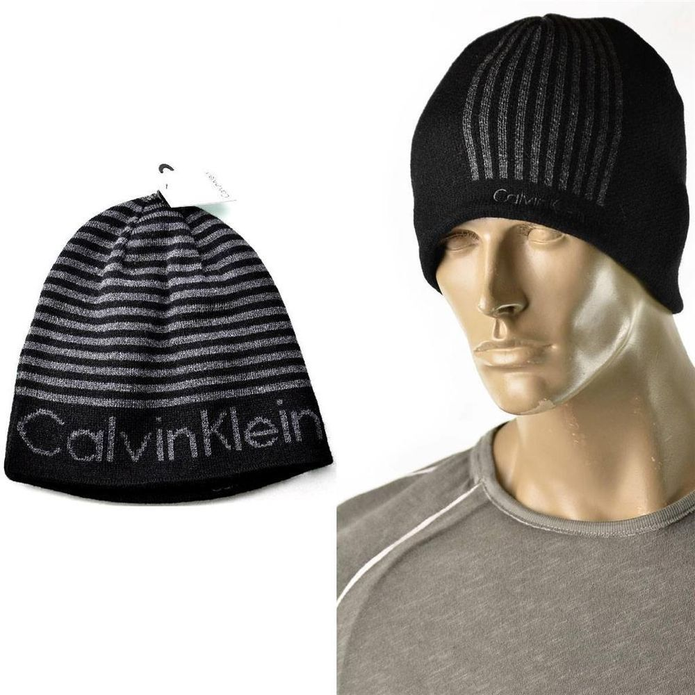 Calvin Klein Hat Winter Logo Reversible Skull Cap Beanie CK One Size NEW  Hats  515c21453ba