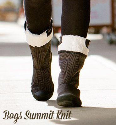 Summit Womens Black Grey Boots Bogs Knit