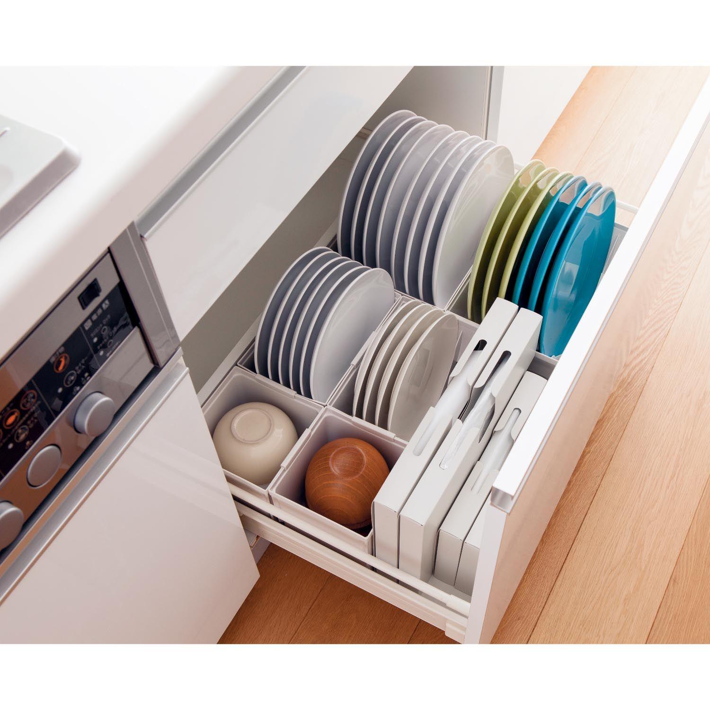 引出し用お椀ポケット2個セット トトノ キッチン 収納 シンク下 食器 食器棚 収納 引き出し システムキッチン 収納 引き出し