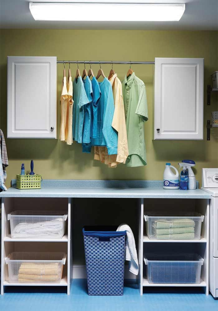 Affordable home improvement ideas cabinets countertops - Laundry room table ideas ...