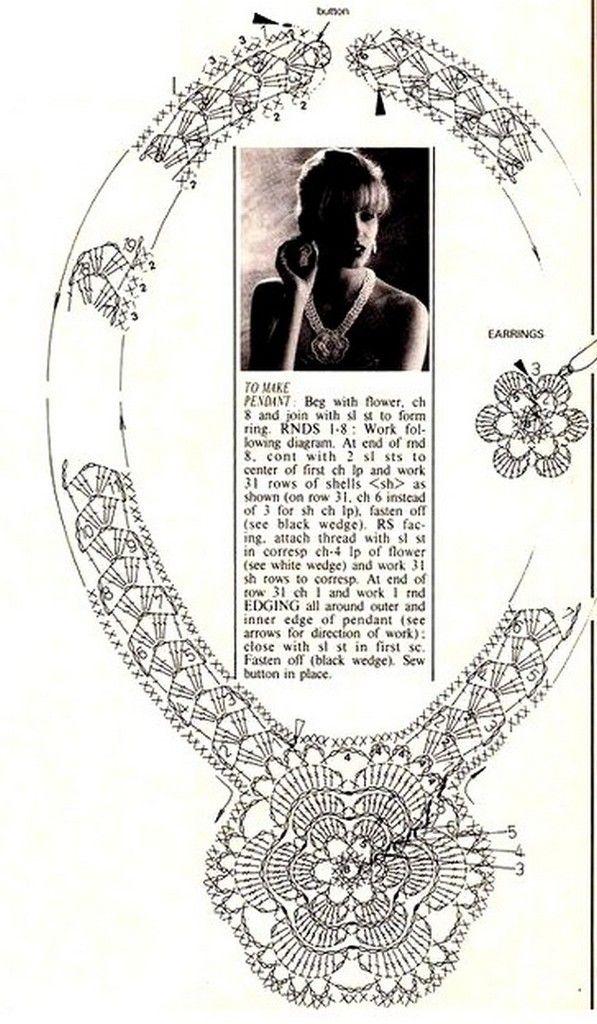 Bijoux et leurs grilles gratuites ! - Fleurs et Applications au ...