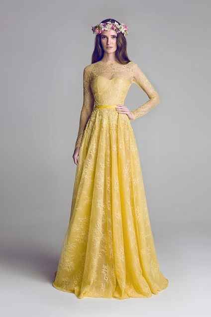 35 Wedding Dresses Every Disney Obsessed Bride Will Love Yellow