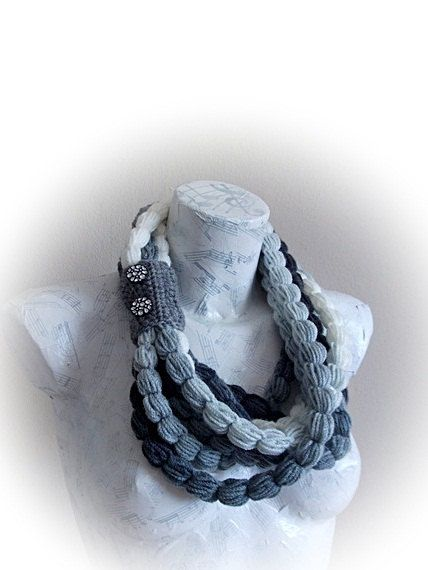 Handmade Crochet Scarf - Colorful Crochet Scarf. $22.00, via Etsy.