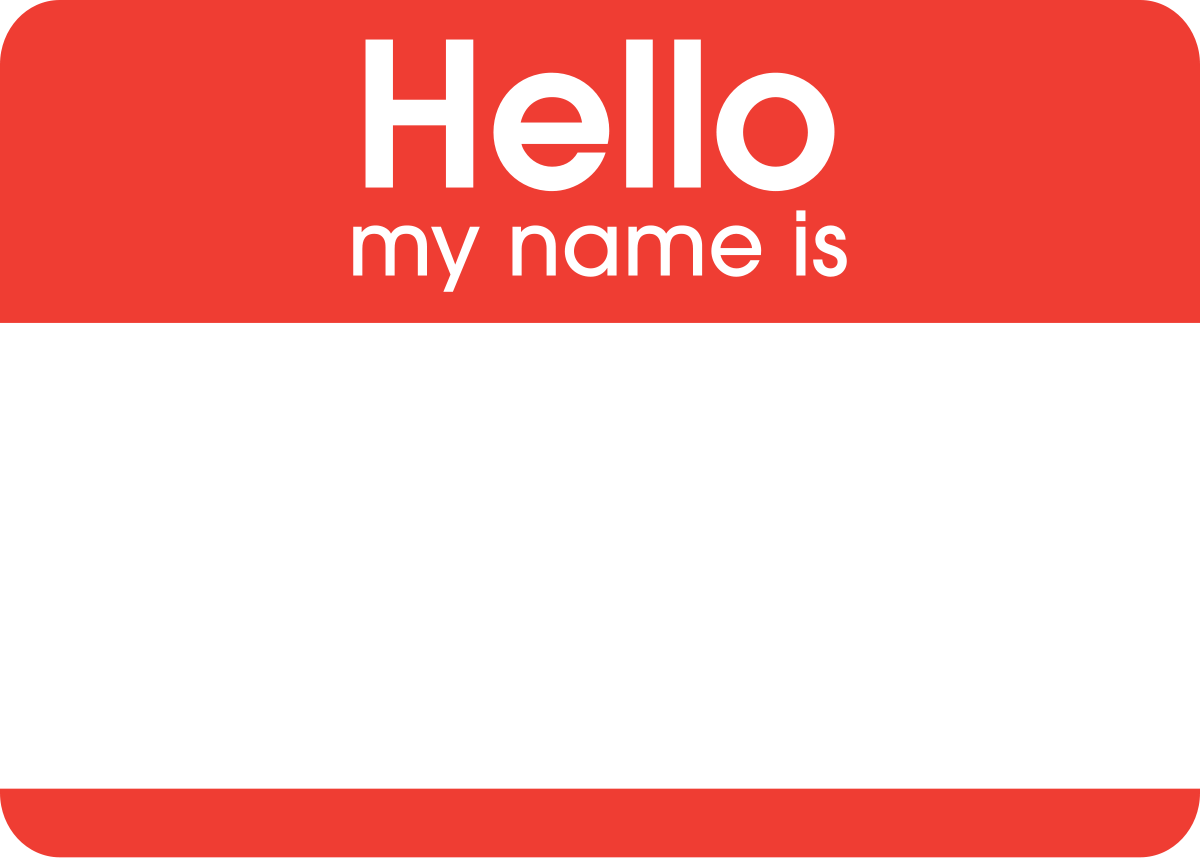 File Hello My Name Is Sticker Svg