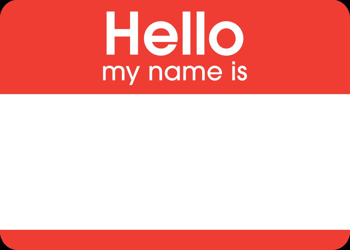 Filehello my name is sticker svg