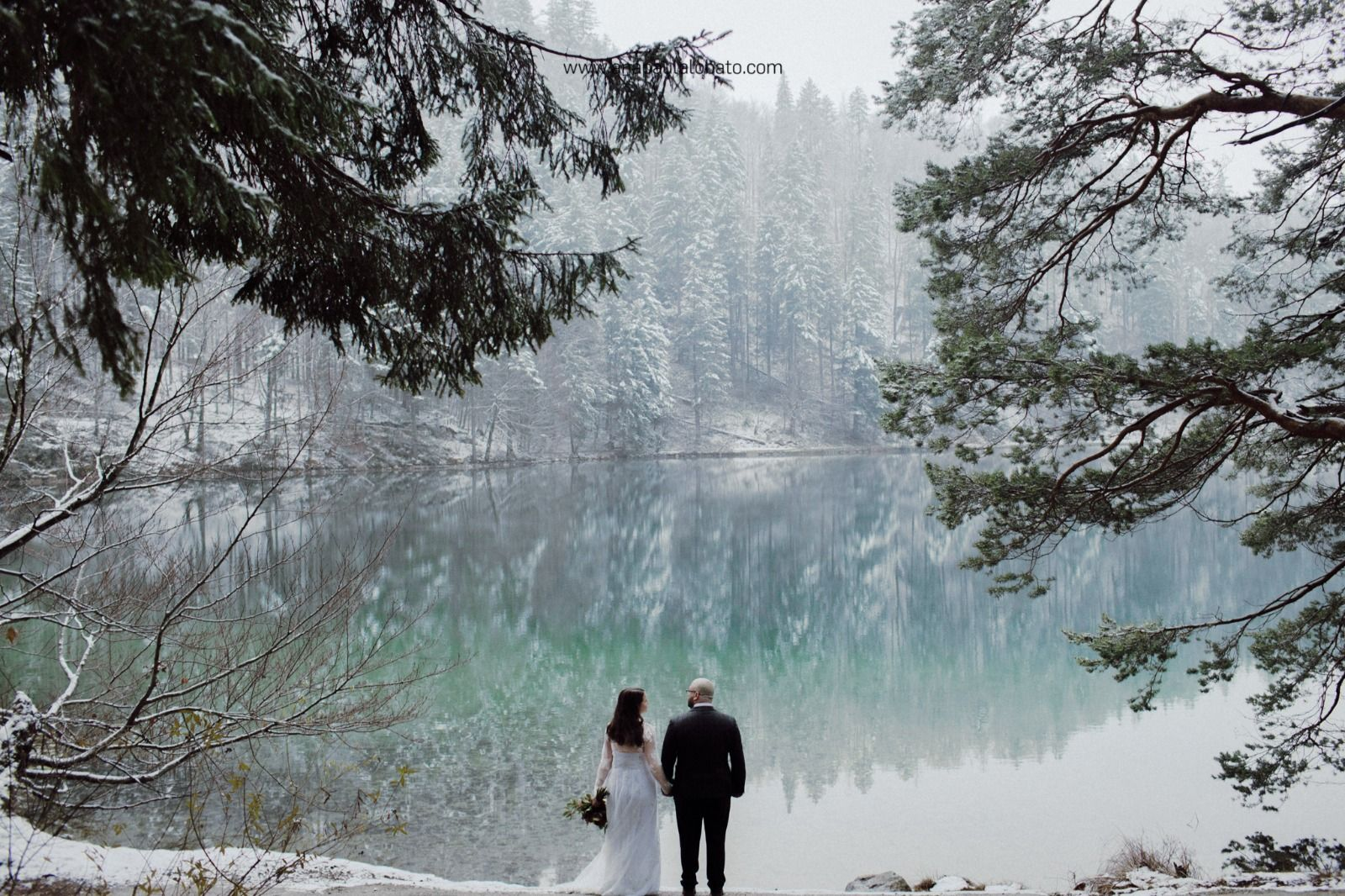 Neuschwanstein Winter Wedding In Germany Peach Perfect Weddings