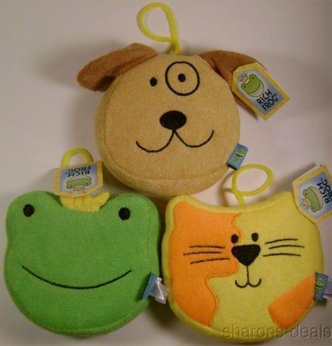 Rich Frog Kid Bath Sponge Toy Set 3 Cat Dog Animal Soft Foam Baby ...