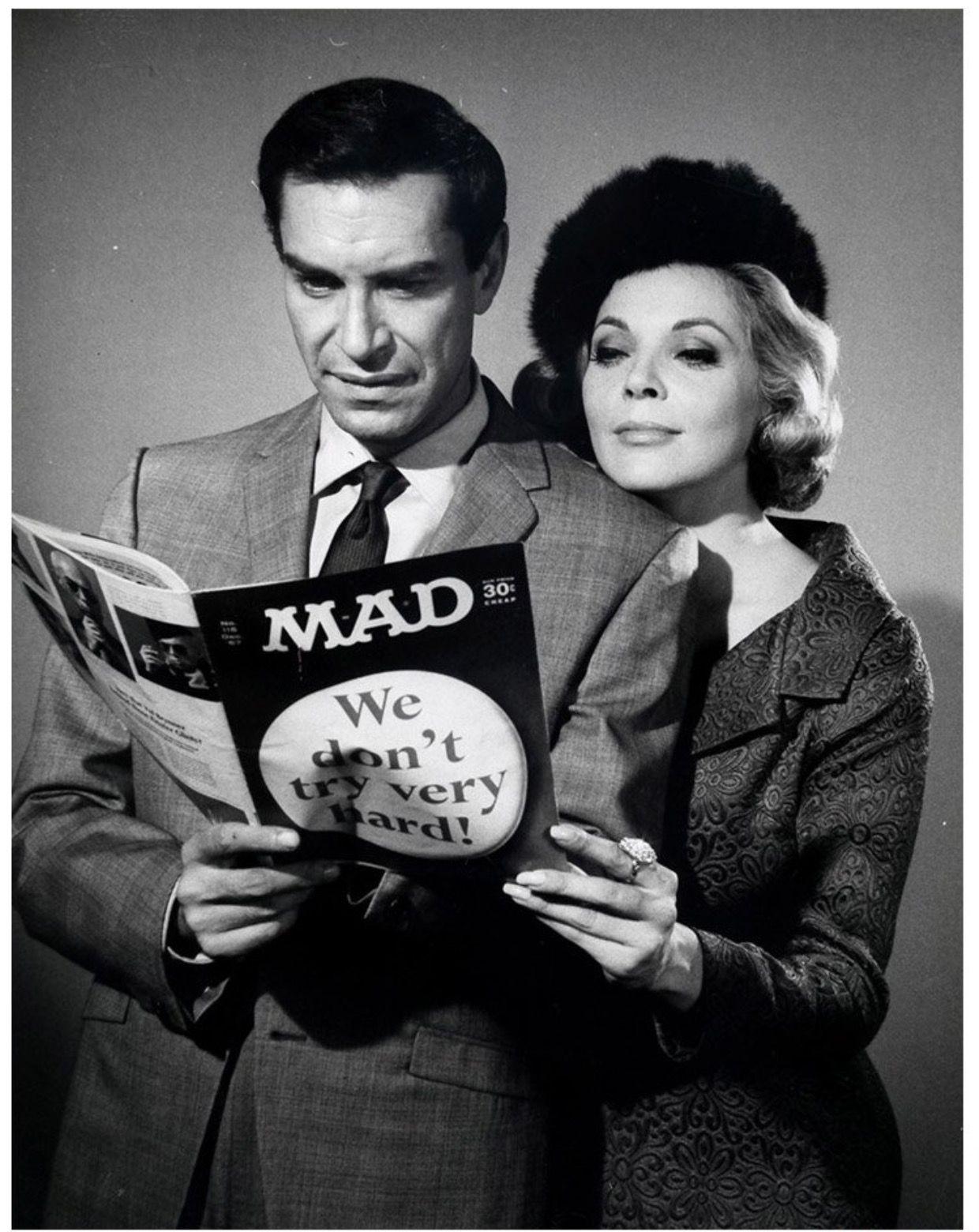 Martin Landau Reading Mad Magazine